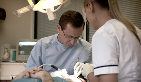 Undertaking a dental procedure in the Cosmetic Dentistry